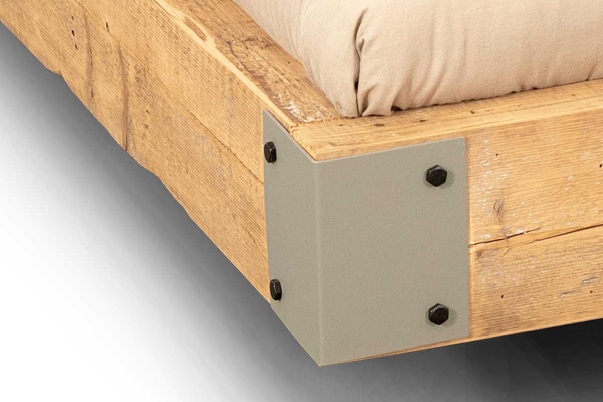 Detailfoto van de fat bed balken